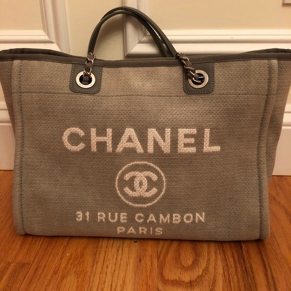 993959a69081 CHANEL Handbags - Chanel deauville medium tote grey canvas